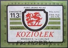 Poland Brewery Lublin Koziołek Beer Label Bieretikett Etiqueta Cerveza lu23.2