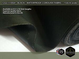 320gsm/1100d* BLACK - HIGH QUALITY CORDURA NYLON FABRIC - WATERPROOF & DURABLE