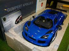 GUMPERT APPOLO S de 2005 bleu au 1/18 AUTOart SIGNATURE 71303 voiture miniature