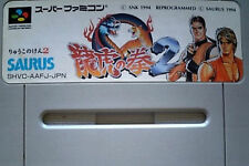 Ryuuko no Ken 2 SNES Nintendo Super famicom SFC JAPAN    # Art of Fighting