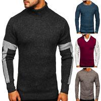 Pullover Strickpullover Sweater Sweatshirt Pulli Rundhals Herren Mix BOLF Motiv