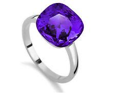 Crystal Purple Medium Size O Engagement Bridal Ring Diameter 17 mm FR130