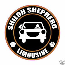 "Limousine Shiloh Shepherd 5"" Dog Pet Sticker"