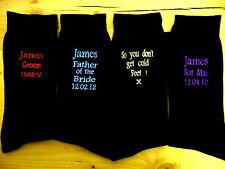 Personalised Mens Wedding Socks Groom Bestman Father Grandad Step-relatives