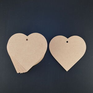 LOVE HEARTS 3mm MDF 115mm WIDE x 10 BUNTINGS/GARLANDS/WEDDING FAVOURS VALENTINE