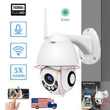 Wireless HD 1080P WiFi 5X ZOOM CCTV Outdoor IP Camera Home Security IR Webcam