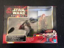 ESZ863. STAR WARS Episode I Gungan Assault Cannon w Jar Jar Binks Action Figure