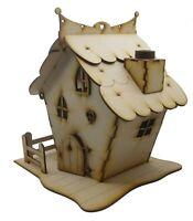 Wooden Fairy House Opening Fairy Door Large Woodland House Fairy Garden DIY Kit