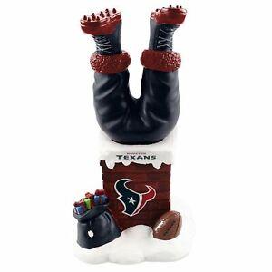 Santa Claus Houston Texans Santa Legs Chimney Bobblehead (Bobble Legs) NFL