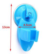 Blue Attachable Bathroom Shower Head Holder Wall Suction Cup Bracket Organizer