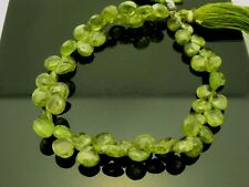 "Natural Vesuvianite Faceted Briolette Teardrop Green Gemstone Beads 8"" Std"