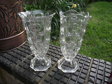 "Josef Inwald ""9045""  Clear Glass Lens Vases - 1930's Art Deco 2 Designs"