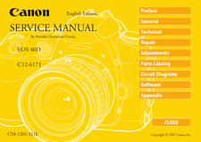 CANON EOS 40D FULL COLOUR SERVICE MANUAL + PARTS INC CIRCUIT PCB DIAGRAMS PDF