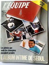 L'Equipe Magazine 1/10/1988; Spécial Auto/ l'album intime de séoul