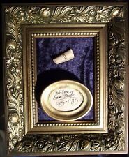 Holy Relic In Beautiful Gold Coloured Frame - Gaff