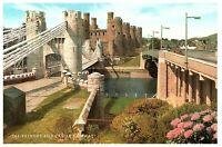 Conway Castle & Bridge Wales UK Postcard
