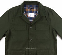 J.CREW Mercantile Flannel Lined Barn Jacket Olive Military Green Men's size M