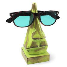 Glasses holder wooden glasses stand nose sunglasses holder case green