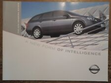 NISSAN PRIMERA ESTATE orig 2002 UK Mkt Sales Brochure