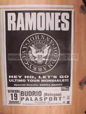 RAMONES 19-01-1996 BOLOGNA 100X70 POSTER CONCERTO [MM 0450]