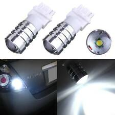 2X White HID 3156 3157 7W Projector LED Reverse Backup Brake Light Bulb DC12V