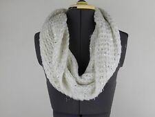 BETSEY JOHNSON Lush Cozy WHITE KNIT INFINITY SCARF