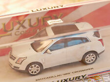 """LUXURY COLLECTIBLES 2011 CADILLAC """" SRX """" CROSSOVER 1:43 WHITE  NEW DIE-CAST"""