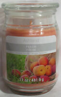 Ashland Scented Candle NEW 17 oz Large Jar Single Wick Summer PEACH