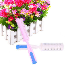 Practical Babys' Hairdressing Cutting Thinning Comb With Double Razor Blade Hot