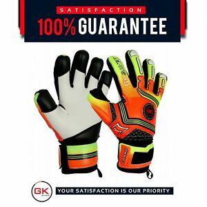 Football Goalkeeper Goalie GK Saver Champ 01 Orange Negative Cut Goalie Gloves