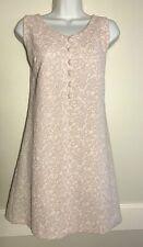 New listing 1960s Mod GoGo Dress Sleeveless Stretch Knit Pink & Silver L/Xl ? Read info