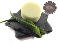 ALOE VERA HAIR CONDITIONER BAR - COOLING PEPPERMINT OIL-LONG LASTING - SOFT HAIR