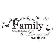 Family Love Quote Butterfly Nature Wall Art Vinyl Decal Sticker Transfer. 1707