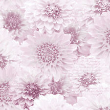 Chrysanth Photographic Pink Floral Flower Calligraphy Wallpaper Muriva 128504