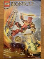 LEGO Bionicle TAHU Master of Fire SET # 70787 Complete w/ INSTRUCTION Manual