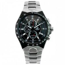 CASIO EDIFICE Men EF-534D-1A Black Dial 3subdial Stainless Steel Band