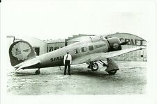 "VINTAGE AIR RACING LOCKHEED SIRIUS SHELL AIRPLANE B&W PHOTOGRAPH 5"" x 7"""