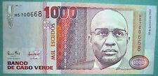 Cape Cabo Verde 1000 1 000 Escudos Note Issued 20.01. 1989, P 60, Cabral