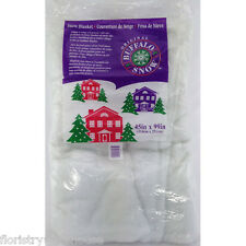 Artificial snow Christmas and winter Blanket 2.5 x1.1m (8ft 3inch x 3ft 9 inch)