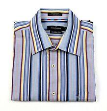 Men's Daniel Hechter Paris The Metro Shirt Button Up Short Sleeve Striped Size L
