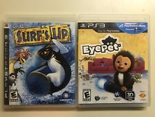 PS3 Kids Lot - Surf's Up & EyePet CIB COMPLETE -Surfs Up, Eye Pet