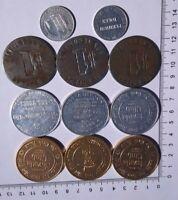 11 Vintage Casino Tokens The Mint Westward Ho Casino Royale Nevada Club Steel $1