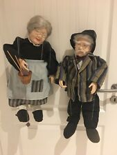Marionetten Puppen2 Stück 60cm Sammler Oma & Opa