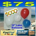 """5000 10"""" Patriotic Stars Latex Balloons  Memorial 4th of July RED WHITE BLUE"""