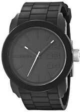 Diesel Authentic Watch DZ1437 Black Dial Black Silicone Strap 44mm