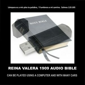 REINA VALERA 1909 AUDIO BIBLIA ON TWO FLASH DRIVES FOR HOME & CAR