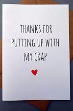 Tarjeta De Felicitación Gracioso/Aniversario/día de San Valentín/diversión/bromas-poniendo