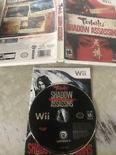 Tenchu: Shadow Assassins (Nintendo Wii, 2009) Clean CD