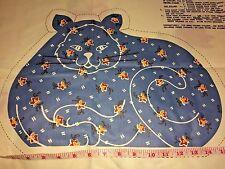 Vtg Nettlecreek Polished Cotton Fabric Panel 3 Pillows Blue Beige Cats & Floral