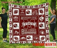 Mississippi State Bulldogs Quilt Blanket For Football Fan Gift Idea First Season